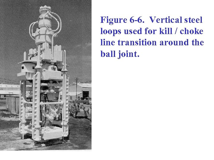 Figure 6 -6. Vertical steel loops used for kill / choke line transition around