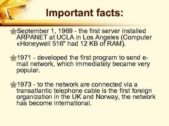 internet history facts