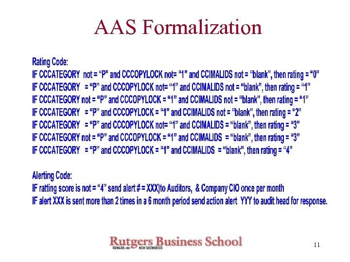 AAS Formalization 11