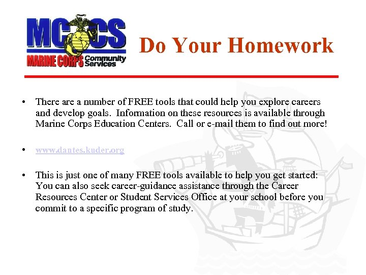 Do Your Homework • There a number of FREE tools that could help you