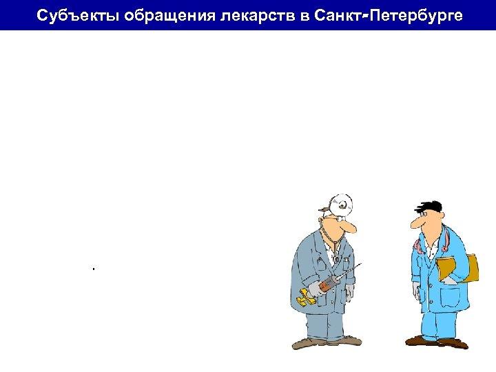 Субъекты обращения лекарств в Санкт-Петербурге абсолютно известно • 44 городских стационара • 90 городских