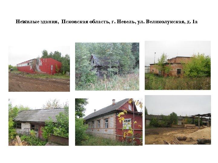 Нежилые здания, Псковская область, г. Невель, ул. Великолукская, д. 1 а