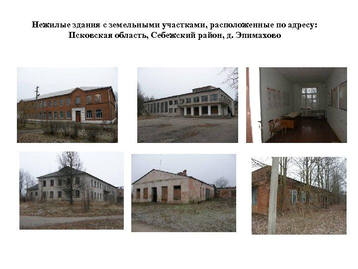 Нежилые здания с земельными участками, расположенные по адресу: Псковская область, Себежский район, д. Эпимахово