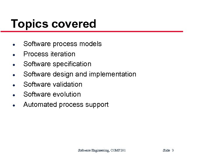 Lectures 2 3 Software Processes Software Engineering