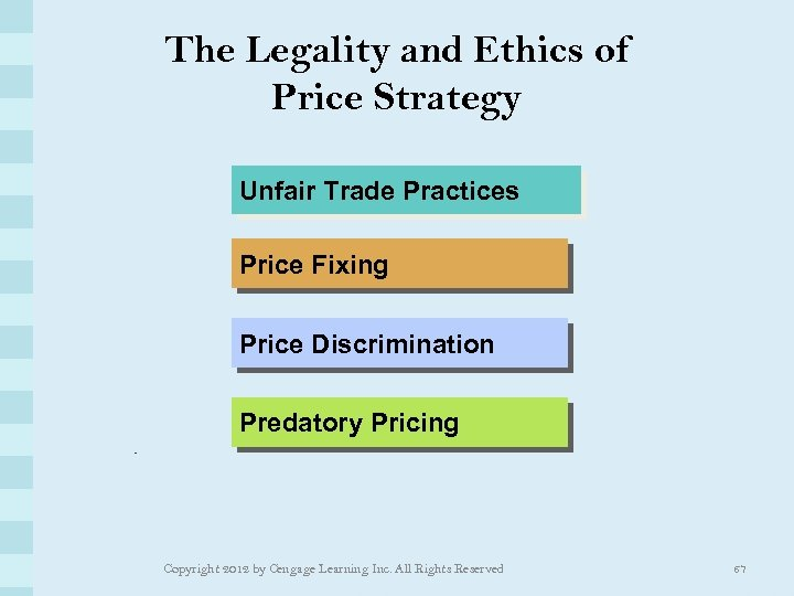The Legality and Ethics of Price Strategy Unfair Trade Practices Price Fixing Price Discrimination