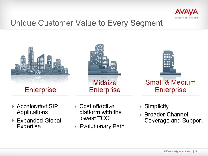 Unique Customer Value to Every Segment Enterprise 4 Accelerated SIP Applications 4 Expanded Global