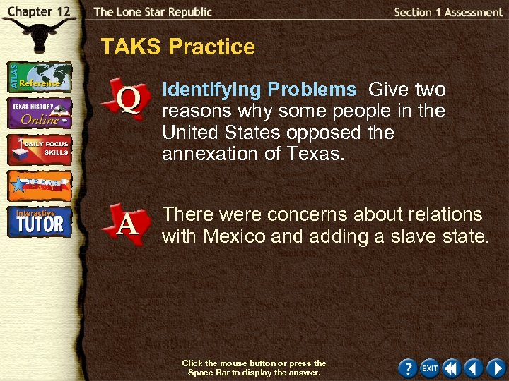 TAKS Practice Identifying Problems Give two reasons why some people in the United States