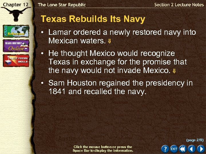 Texas Rebuilds Its Navy • Lamar ordered a newly restored navy into Mexican waters.