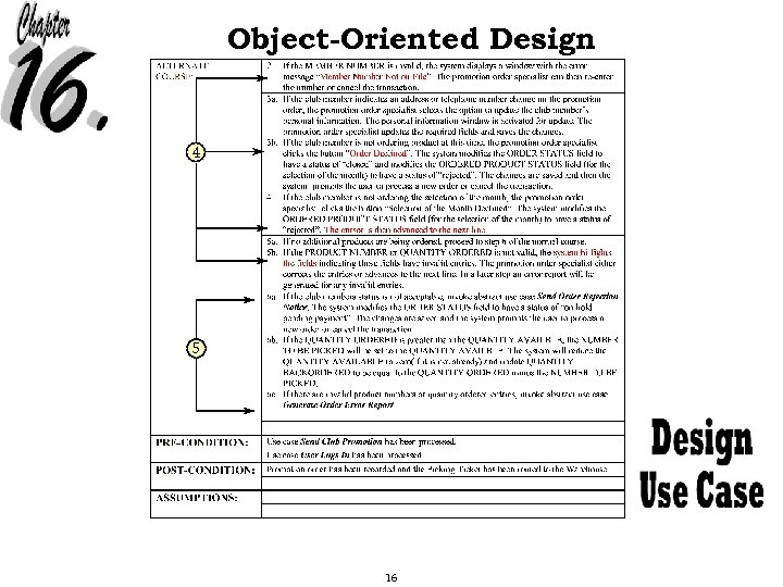 Object-Oriented Design 4 5 16