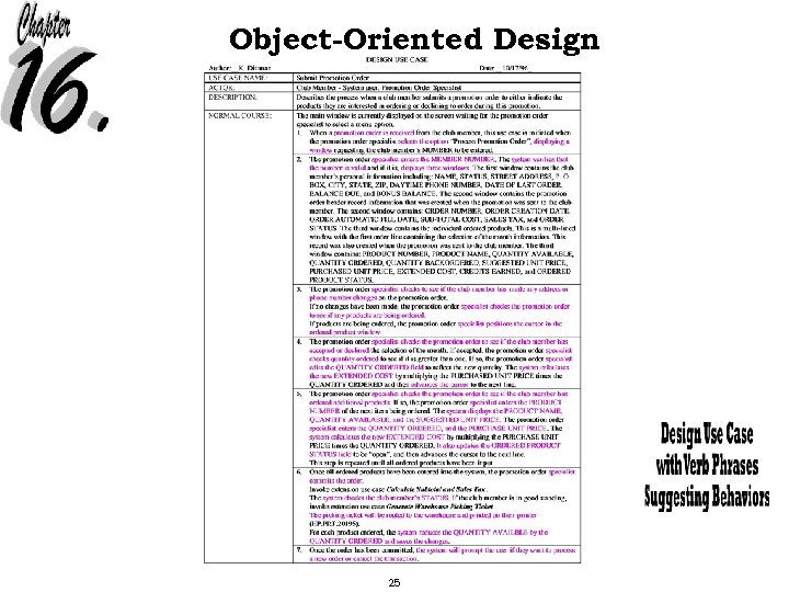 Object-Oriented Design 25