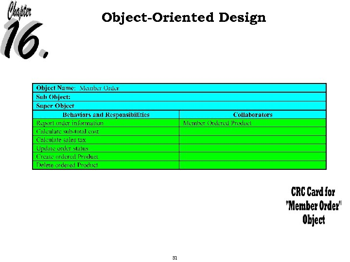 Object-Oriented Design 31