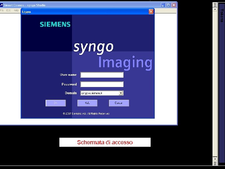 Schermata di accesso