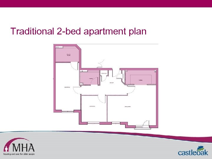 Traditional 2 -bed apartment plan