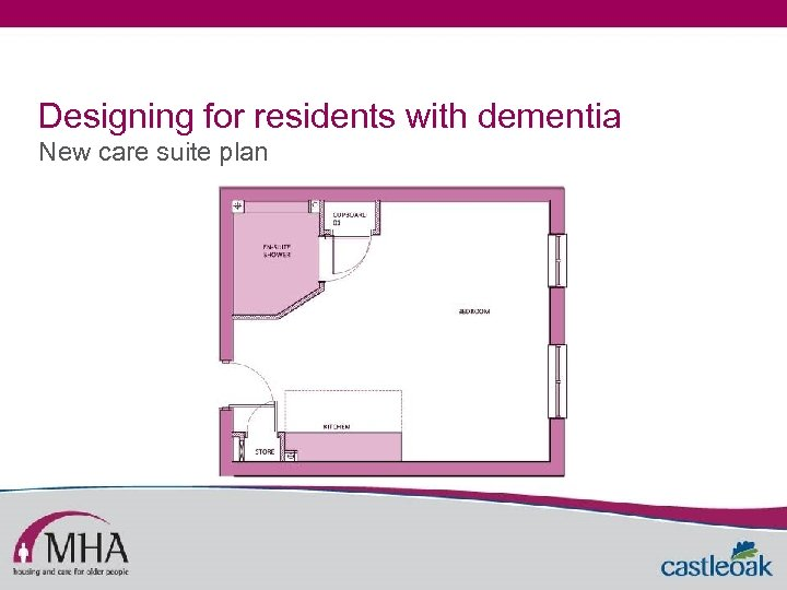 Designing for residents with dementia New care suite plan
