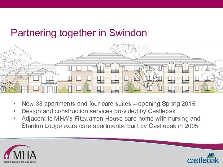 Partnering together in Swindon • New 33 apartments and four care suites – opening