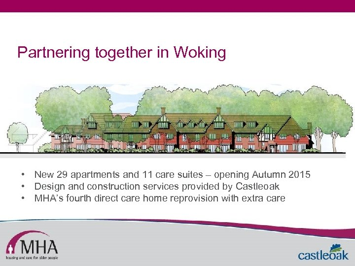Partnering together in Woking • New 29 apartments and 11 care suites – opening