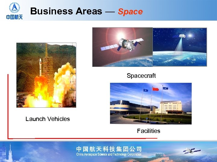 Business Areas — Spacecraft Launch Vehicles Facilities