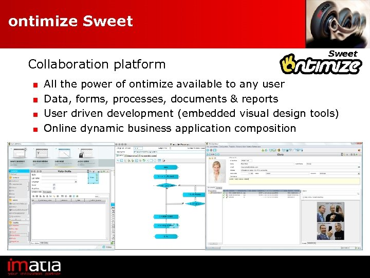 ontimize Sweet Collaboration platform Sweet All the power of ontimize available to any user