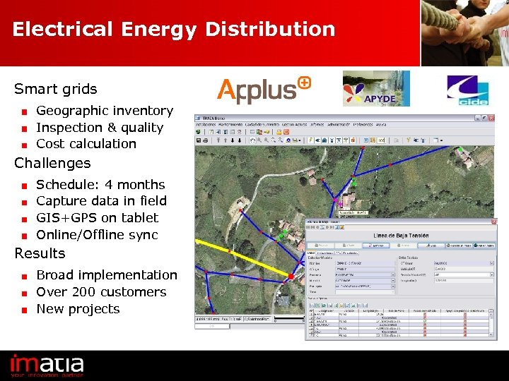 Electrical Energy Distribution Smart grids Geographic inventory Inspection & quality Cost calculation Challenges Schedule: