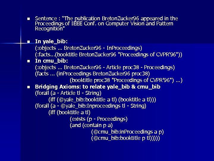 """n Sentence : """"The publication Breton. Zucker 96 appeared in the Proceedings of IEEE"""