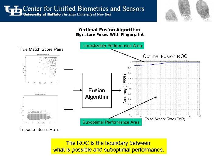 Optimal Fusion Algorithm Signature Fused With Fingerprint True Match Score Pairs Unrealizable Performance Area