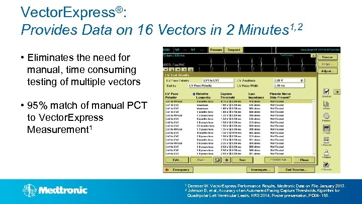 Vector. Express®: Provides Data on 16 Vectors in 2 Minutes 1, 2 • Eliminates