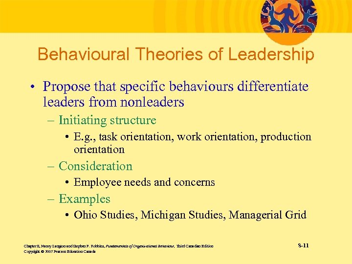 Behavioural Theories of Leadership • Propose that specific behaviours differentiate leaders from nonleaders –