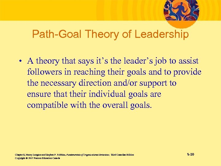 Path-Goal Theory of Leadership • A theory that says it's the leader's job to