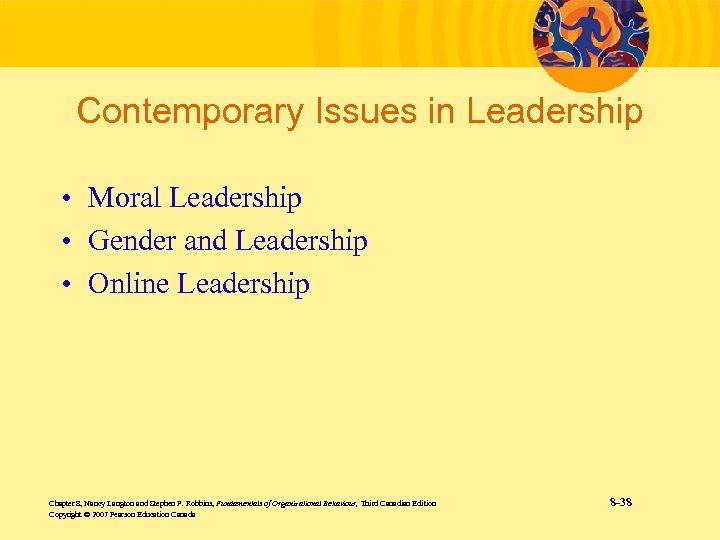 Contemporary Issues in Leadership • Moral Leadership • Gender and Leadership • Online Leadership