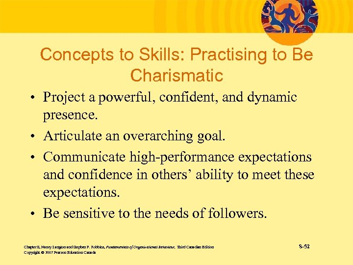 Concepts to Skills: Practising to Be Charismatic • Project a powerful, confident, and dynamic
