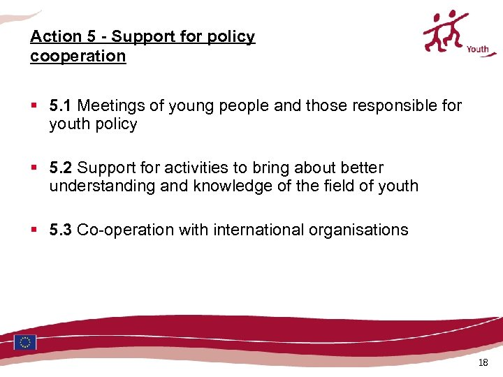 Action 5 - Support for policy cooperation § 5. 1 Meetings of young people