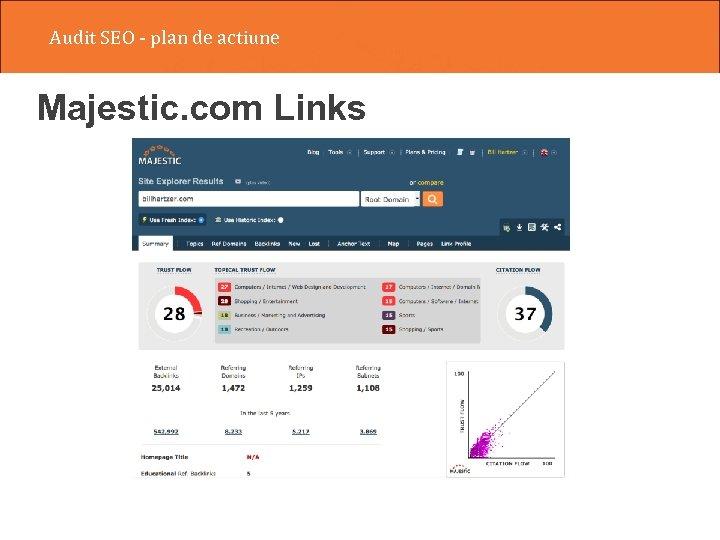 Audit SEO - plan de actiune Majestic. com Links