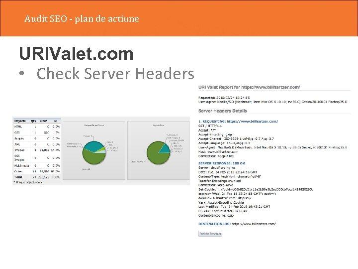 Audit SEO - plan de actiune URIValet. com • Check Server Headers