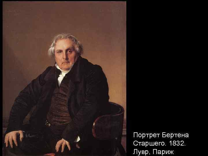 Портрет Бертена Старшего. 1832. Лувр, Париж