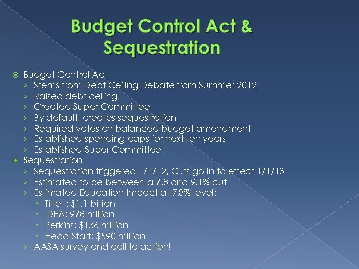 Budget Control Act & Sequestration Budget Control Act › Stems from Debt Ceiling Debate