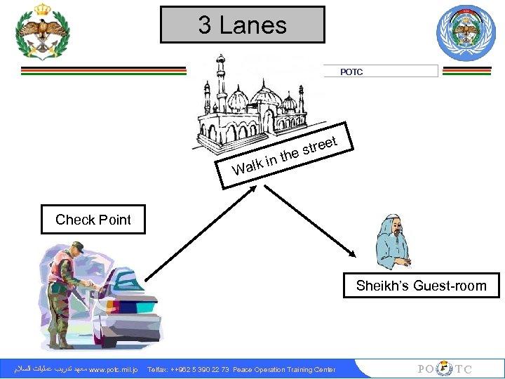 3 Lanes POTC n alk i W th t tree es Check Point Sheikh's