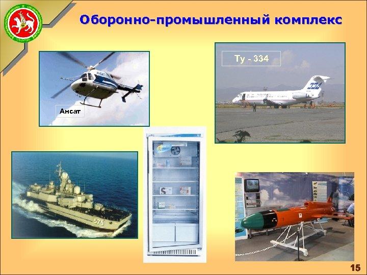 Оборонно-промышленный комплекс Ту - 334 Ансат 15