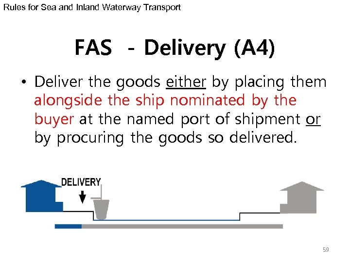 Rules for Sea and Inland Waterway Transport FAS - Delivery (A 4) • Deliver
