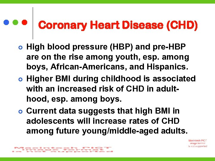 Coronary Heart Disease (CHD) High blood pressure (HBP) and pre-HBP are on the rise