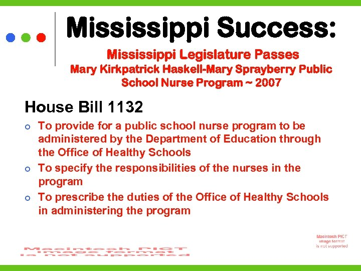 Mississippi Success: Mississippi Legislature Passes Mary Kirkpatrick Haskell-Mary Sprayberry Public School Nurse Program ~