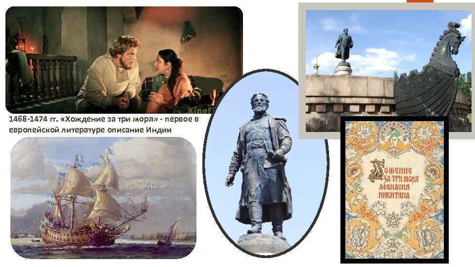 1468 -1474 гг. «Хождение за три моря» - первое в европейской литературе описание Индии