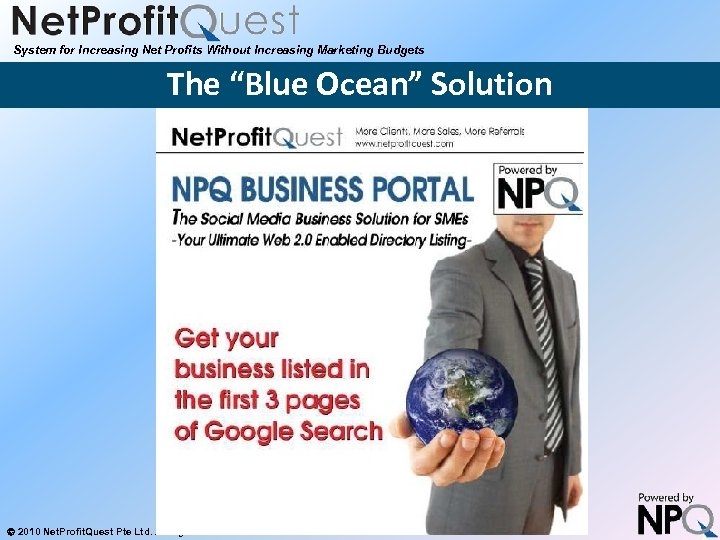 """System for Increasing Net Profits Without Increasing Marketing Budgets The """"Blue Ocean"""" Solution 2010"""
