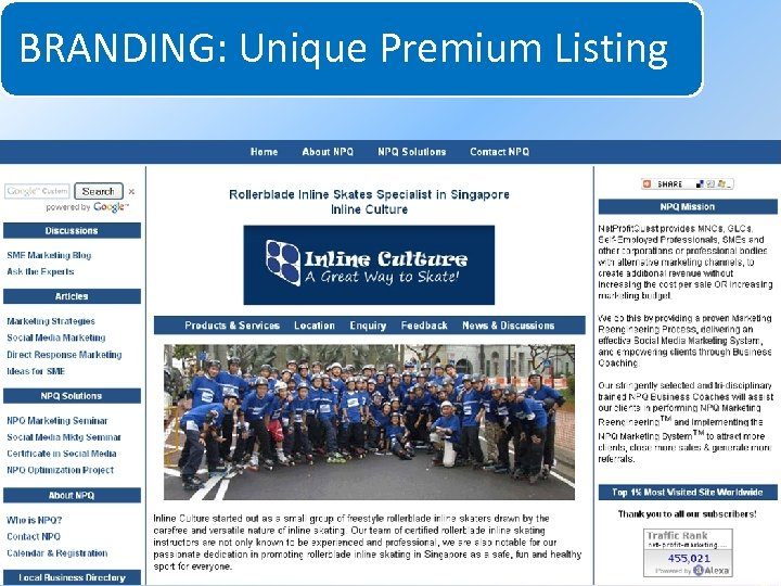 BRANDING: Unique Premium Listing System for Increasing Net Profits Without Increasing Marketing Budgets 2010