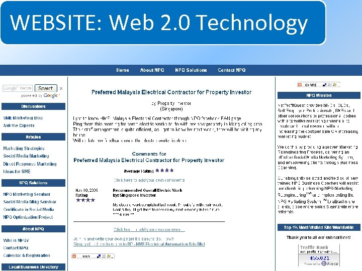 WEBSITE: Web 2. 0 Technology System for Increasing Net Profits Without Increasing Marketing Budgets