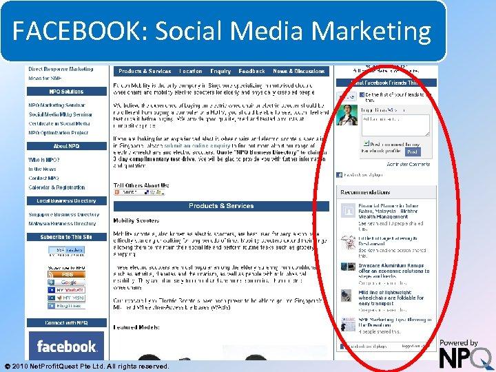 FACEBOOK: Social Media Marketing System for Increasing Net Profits Without Increasing Marketing Budgets 2010