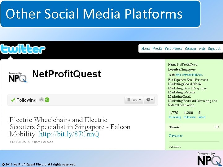 Other Social Media Platforms System for Increasing Net Profits Without Increasing Marketing Budgets 2010
