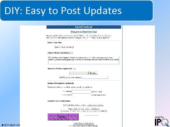 DIY: Easy to Post Updates System for Increasing Net Profits Without Increasing Marketing Budgets