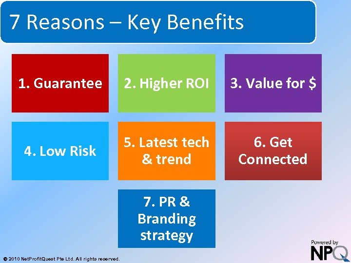 7 Reasons – Key Benefits System for Increasing Net Profits Without Increasing Marketing Budgets