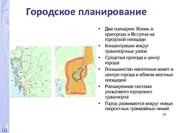 Городское планирование • • • Два сценария: Жизнь в пригороде и Встреча на городской