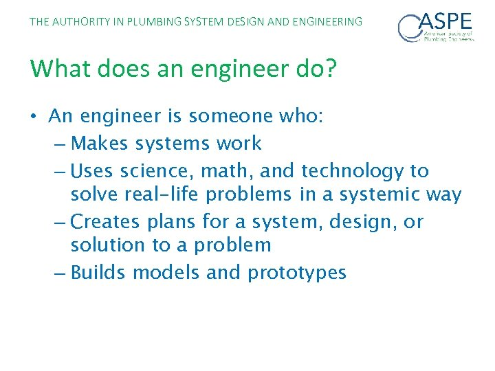 The Authority In Plumbing System Design And Engineering